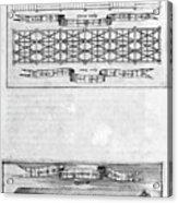Description Of The Ark, 1675. Artist Acrylic Print