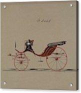 Design For Cabriolet Or Victoria, No. 3558  1879 Acrylic Print