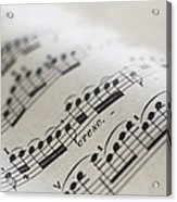 Detail Of Sheet Music Acrylic Print