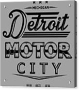 Detroit Motor City Acrylic Print