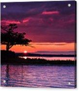 Detroit Point September Sunset Acrylic Print