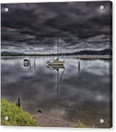 Early Morning Clouds And Reflections On The Bay Acrylic Print