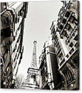 Eiffel Tower  Between Buildings In Acrylic Print