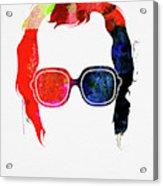 Elton Watercolor Acrylic Print