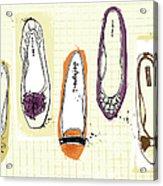 Feminine Shoes Acrylic Print