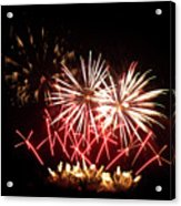 Firework Display Acrylic Print
