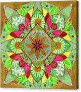 Flower Garden Mandala Acrylic Print