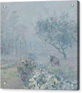 Foggy Morning, Voisins, 1874 Acrylic Print