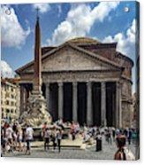Fontana Del Pantheon Acrylic Print