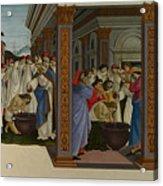 Four Scenes From The Early Life Of Saint Zenobius  Acrylic Print