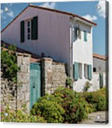 french houses in the streets of Saint Martin de re Acrylic Print