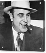 Gangster Al Capone Smoking Cigar Acrylic Print