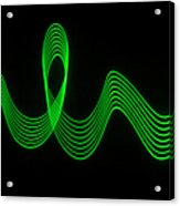Green Abstract Coloured Lights Trails Acrylic Print
