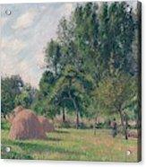 Haystacks, Morning, Eragny, 1899 Acrylic Print