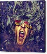 Heavy Metal Rock Star Acrylic Print