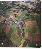 High Angle Aerial View Of Croatia Acrylic Print