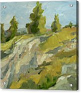 Impasto Mountainside Ii Painting By Ethan Harper