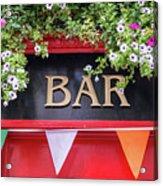 Irish Bar In Dublin Acrylic Print