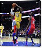Kobe Bryant And Lebron James Acrylic Print