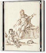 La Virgen Dolorosa   Acrylic Print