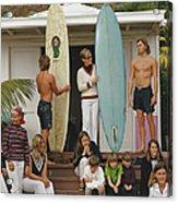 Laguna Beach Surfers Acrylic Print