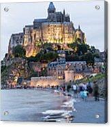 Le Mont Saint Michel, Normandy, France Acrylic Print