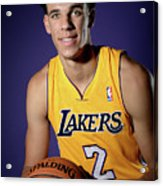 Los Angeles Lakers Introduce Lonzo Ball Acrylic Print