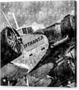 Lufthansa Junkers Ju 52 Vintage Acrylic Print
