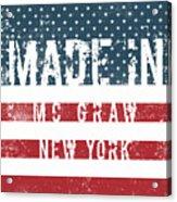 Made In Mc Graw, New York Acrylic Print