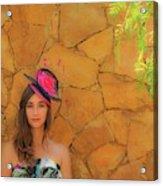 Mamin With Hat Acrylic Print