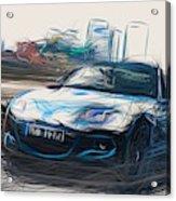 Mazda Mx 5 Sport Graphite Draw Acrylic Print
