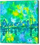 Memphis Green Acrylic Print