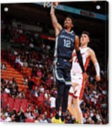 Memphis Grizzlies V Miami Heat Acrylic Print
