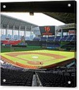 Miami Marlins News Conference Acrylic Print