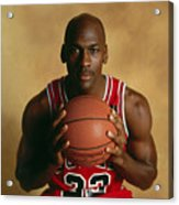 Michael Jordan Portrait Acrylic Print