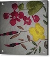 Moms Hand Embroidery Acrylic Print