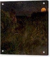 Moonrise Over The Dunes  Acrylic Print
