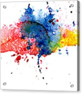 Multicolored Splashes Acrylic Print
