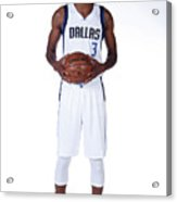 Nerlens Noel Dallas Mavericks Portraits Acrylic Print