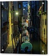 Night Walk In Venice Acrylic Print