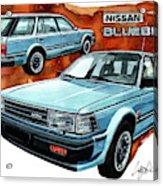 Nissan Bluebird Sw Acrylic Print