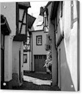 old historic street in Ediger Germany Acrylic Print