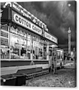 On The Midway - Temptations Of The Night 4 Bw Acrylic Print