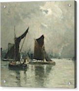 On The Thames  Acrylic Print