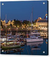 Panoramic Of Inner Harbor In Victoria Acrylic Print