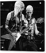 Photo Of Judas Priest And Rob Halford Acrylic Print
