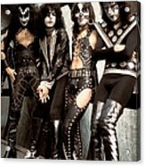 Photo Of Paul Stanley And Kiss And Ace Acrylic Print