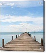 Pier On Koh Samui Island In Thailand Acrylic Print