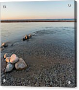 Platte River Mouth At Sunset Acrylic Print