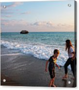 Playing Barefooted At Aphrodite's Birthplace Acrylic Print